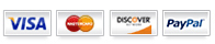 We Accept: Visa, Mastercard, Discover, PayPal and Google Checkout!
